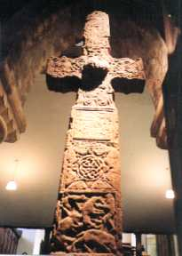 photo - Cross in St Serf's. 8.56kb